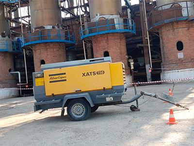 Отгрузка дизельного компрессора Atlas Copco XATS 156 в Самарскую область