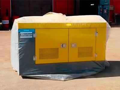 Отгрузка дизельного компрессора Atlas Copco U 250 для пескоструйных работ!